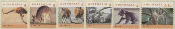 AUS SG1459-64 Australian Wildlife (2nd series) self-adhesive litho set of 6 in singles